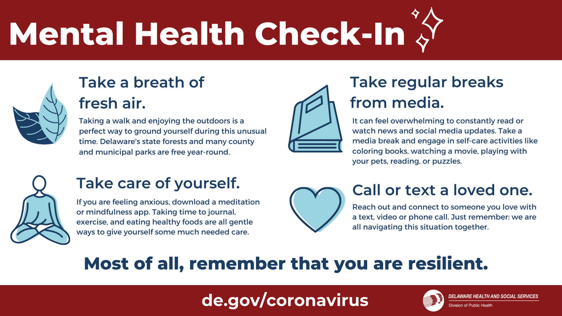 Tips on how to check in on your mental health during the COVID-19 pandemic.