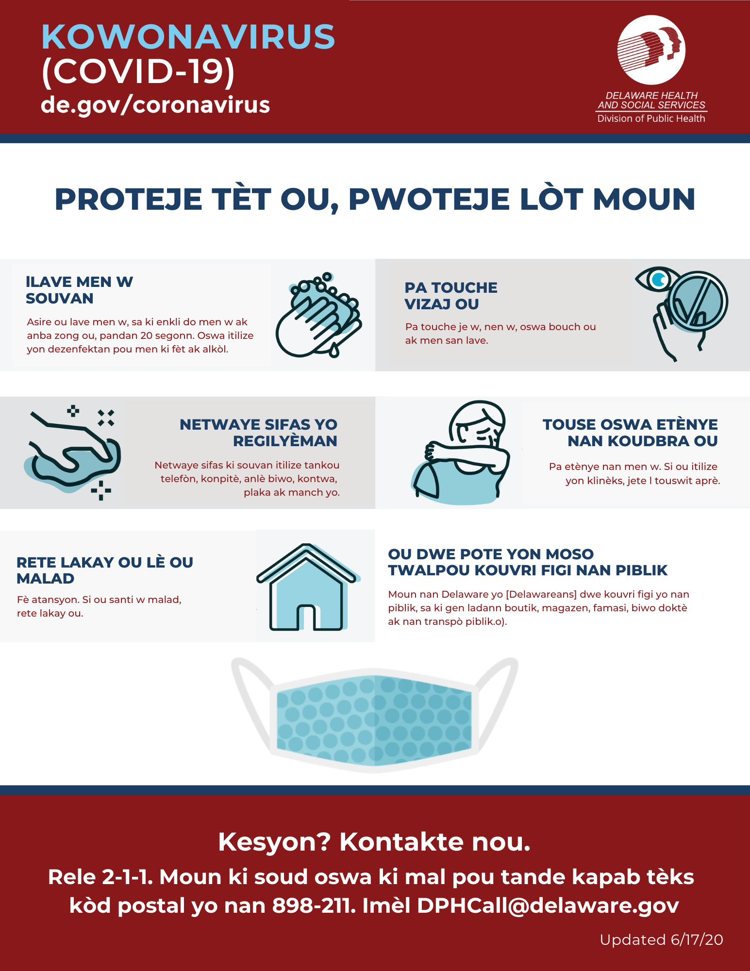 Protect Yourself and Other - Haitian Creole Version