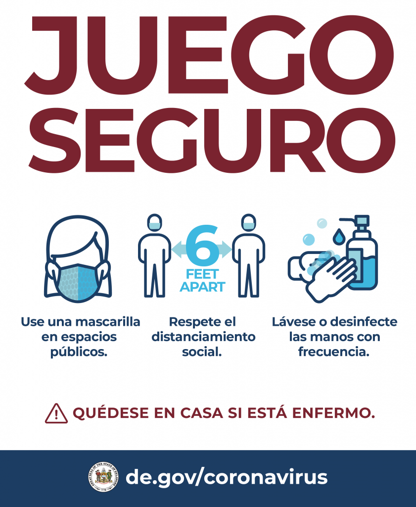 Delaware Reopening (Spanish Version) graphic