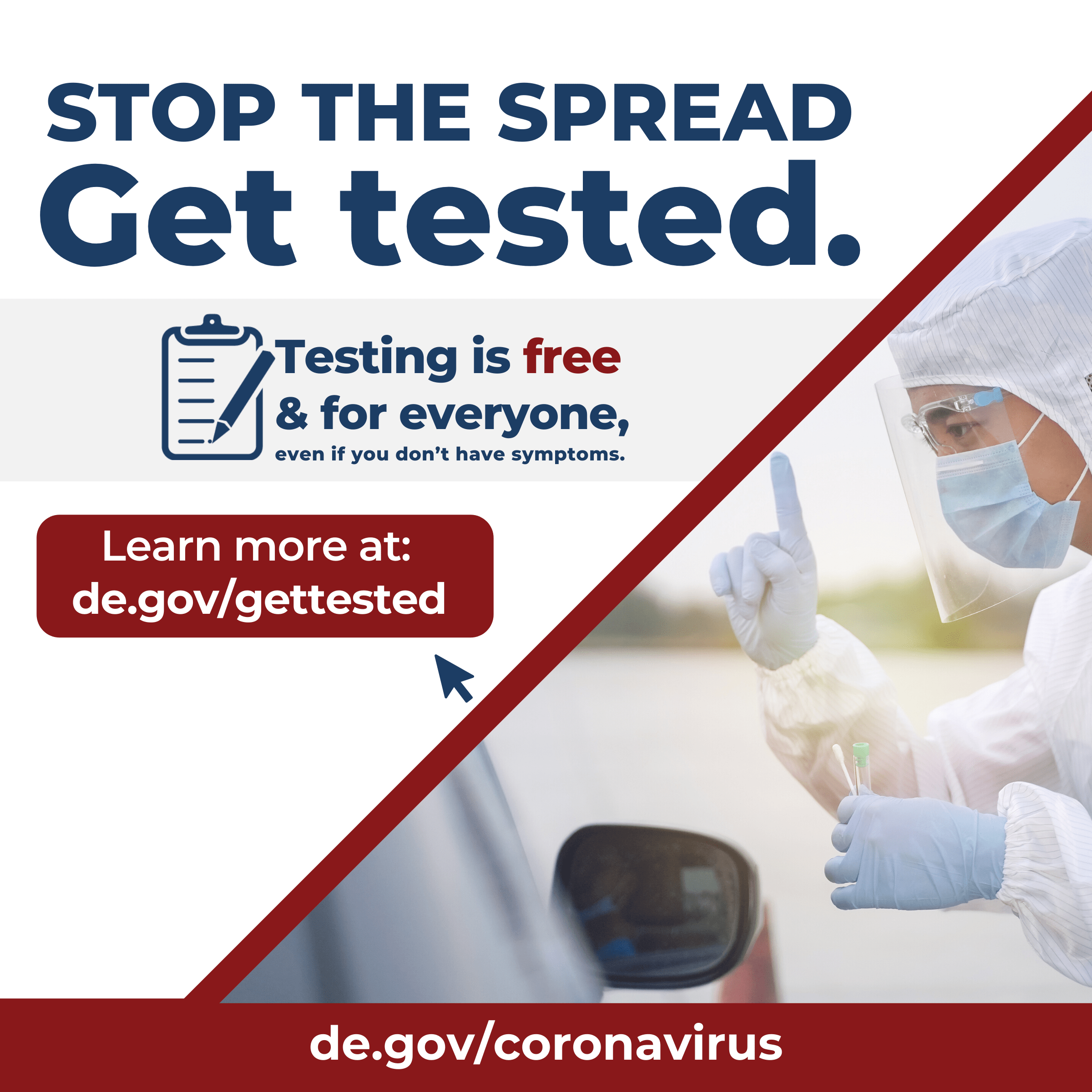 Stop the Spread - Get tested.