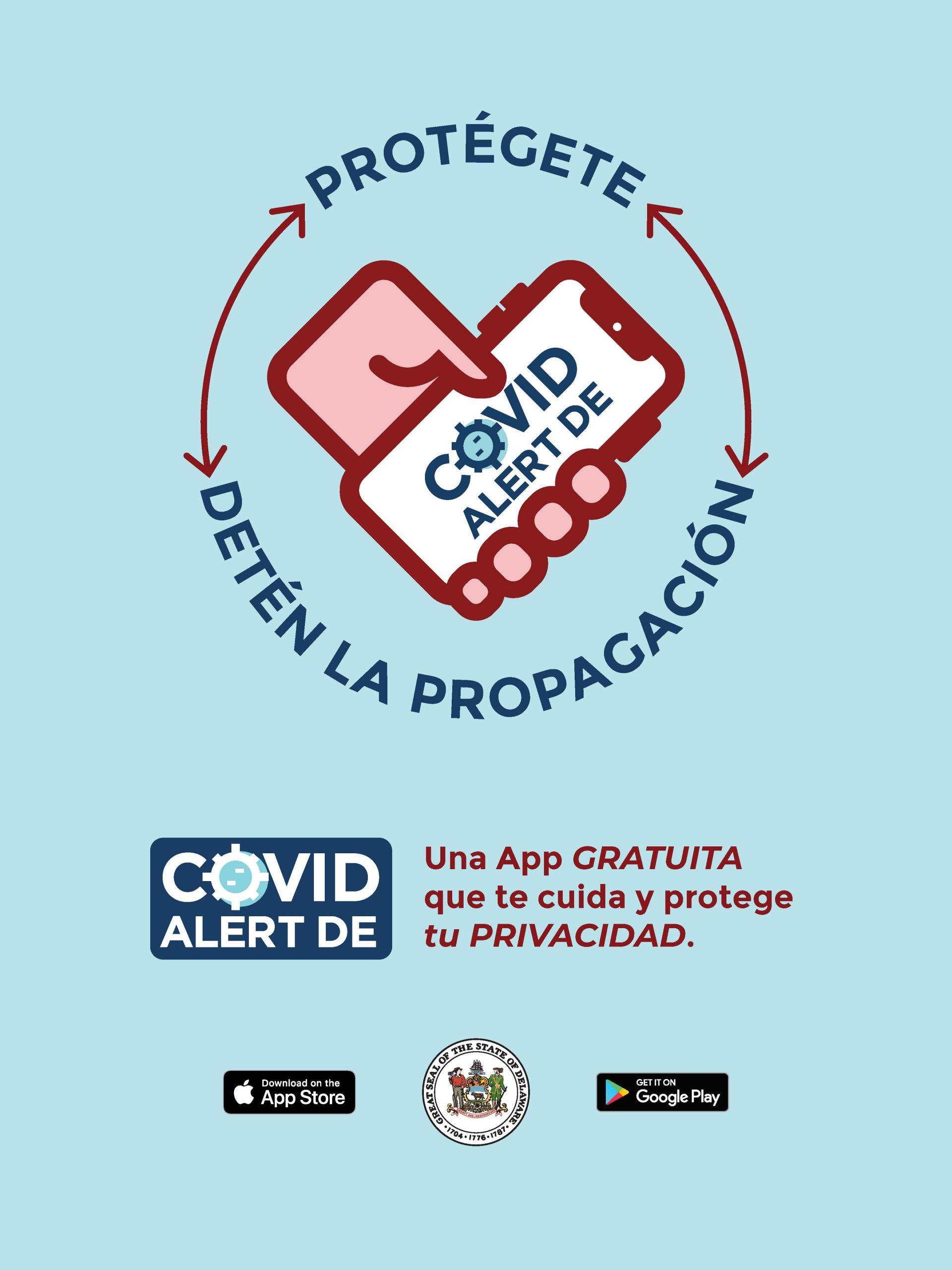 COVID Alert DE Poster - Spanish