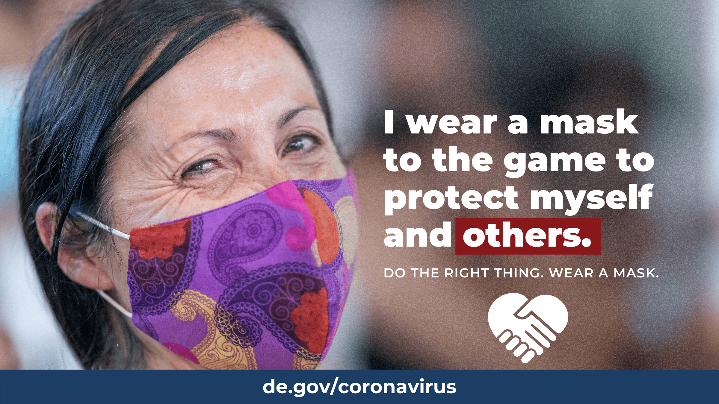 I wear a mask to the game to protect myself and others.
