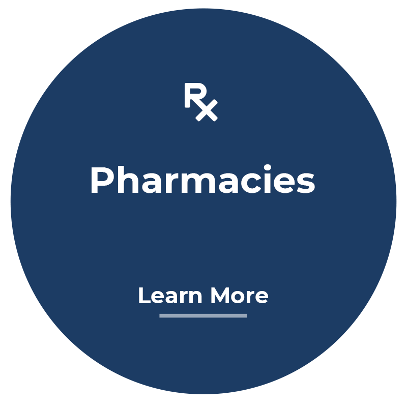 Pharmacies learn more button