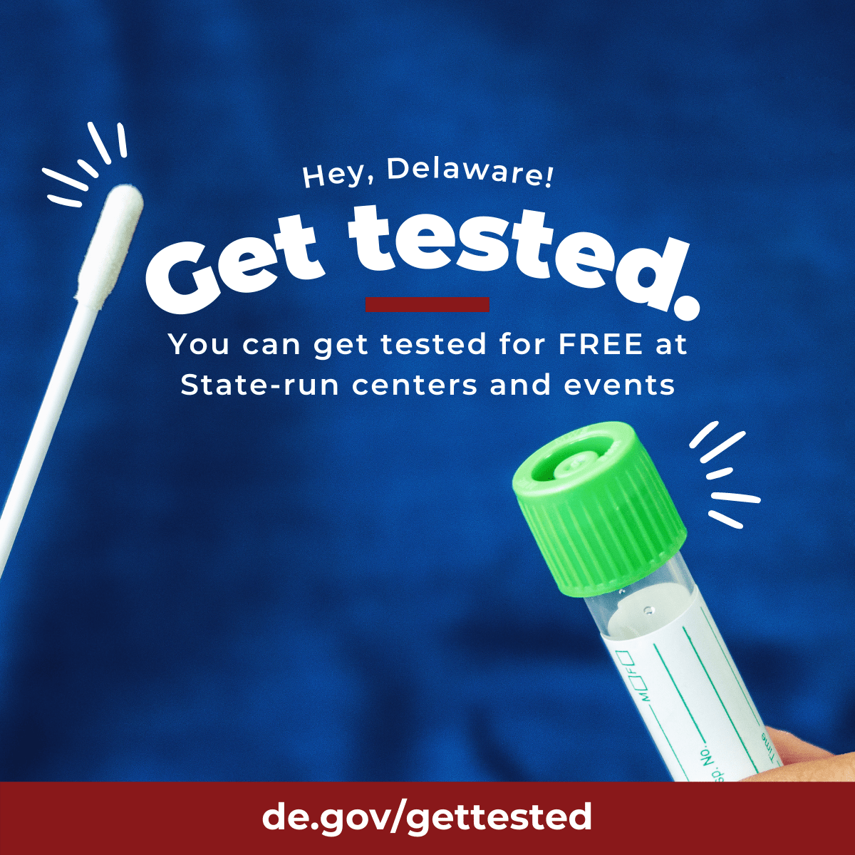 How to get tested for free in Delaware.