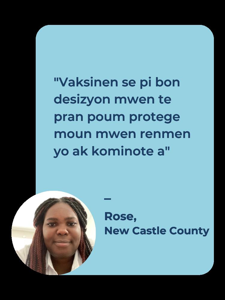 Rose's vaccination testimonial