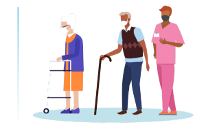 Long-term care staff and residents illustrative figures.