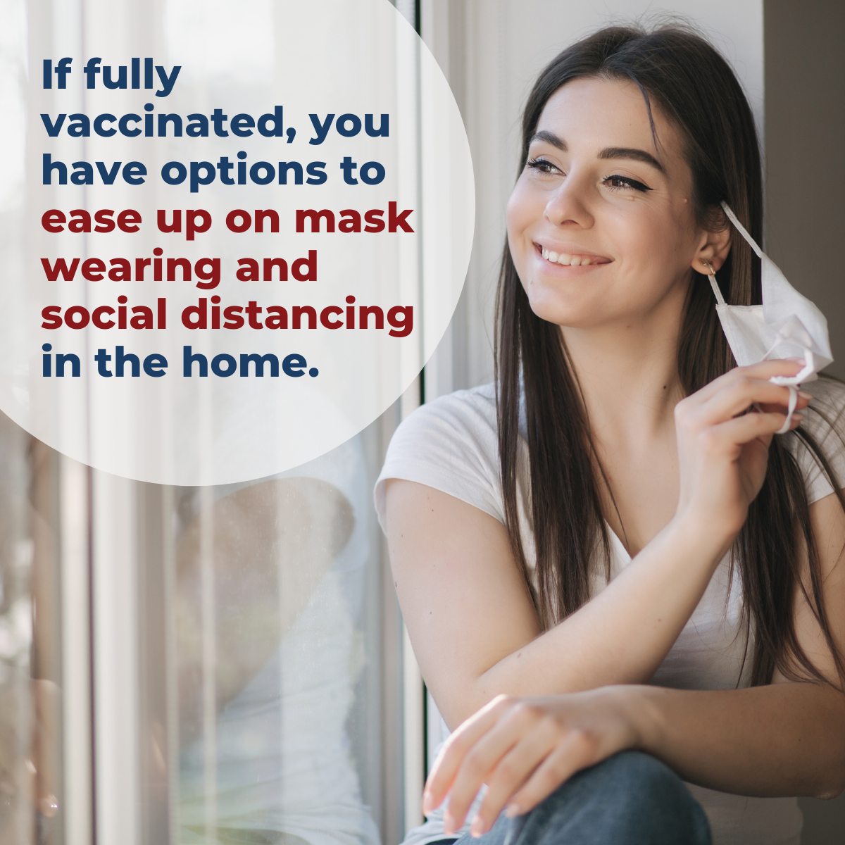 if fully vaccinated, you have options to ease up on mask wearing and social distancing in the home.