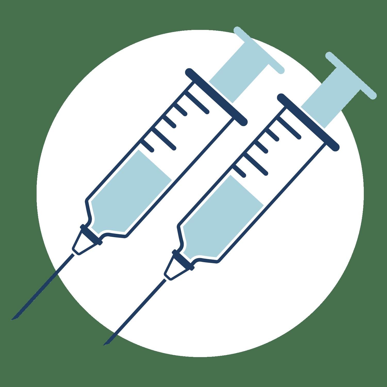 Two COVID-19 vaccine shots