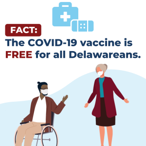 Fact: COVID-19 Vaccine is free for all Delaweareans