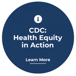 Icon that links to CDC health equity website