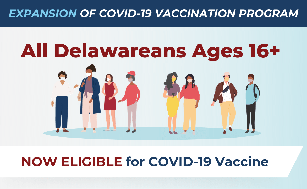 COVID-19 Vaccination Program Open to Delawareans 16+