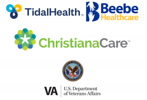 hospital logos including tiadal health, beebe care, christiana care, and veteran affairs.