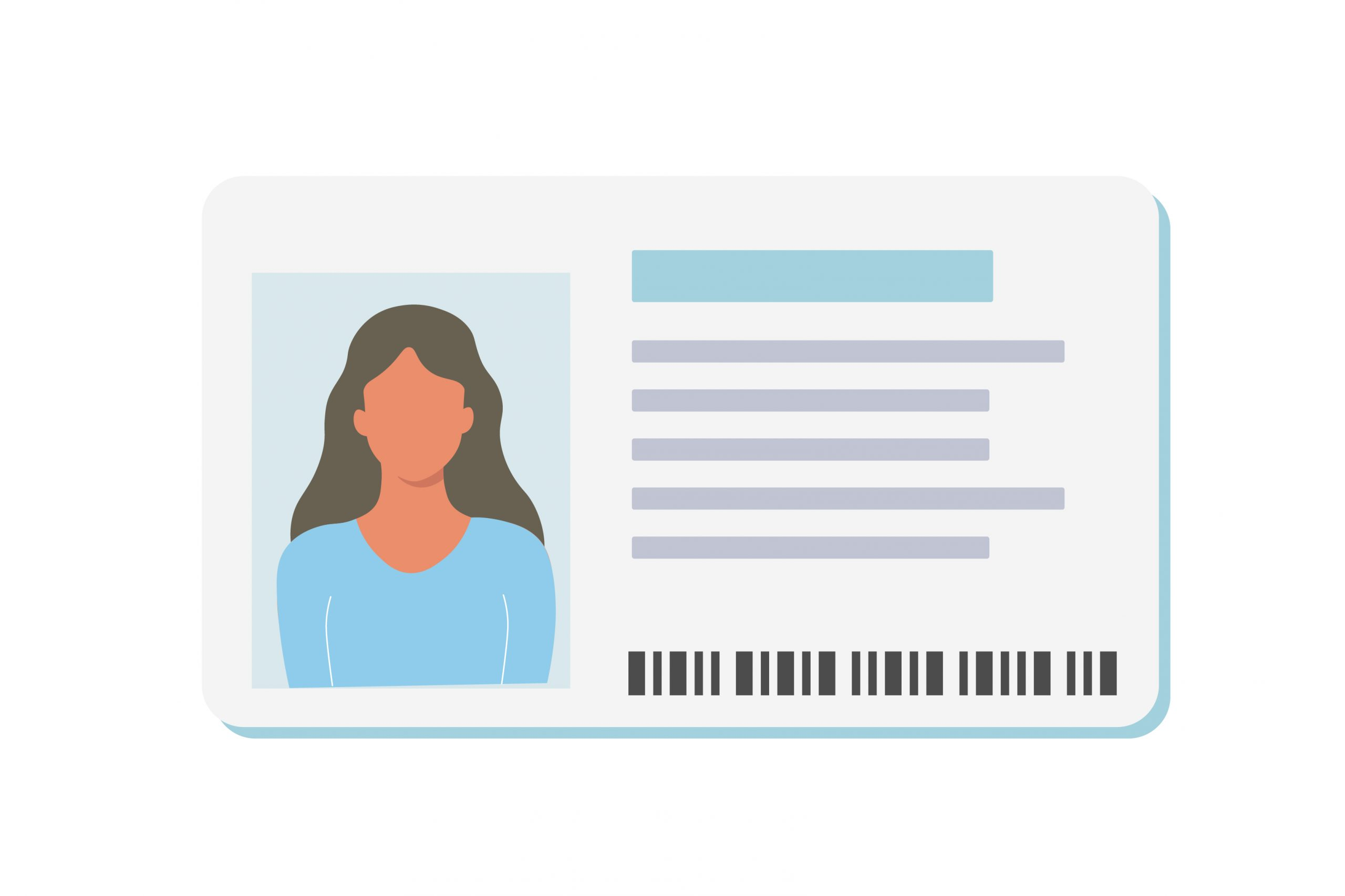 Illustrative graphic of a female on a generic ID