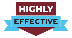 """illustration of a badge that states: """"Highly Effective"""""""