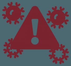 illustration of alert with virus
